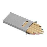 Set de 6 crayons de couleur personnalisés
