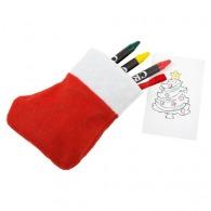 Set de dessin chaussette de Noël NICOLA
