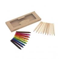 Crayons de couleur avec logo