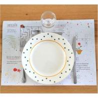 Set de table personnalisé graines - papier à graines