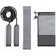 Set fitness corde et bande élastique