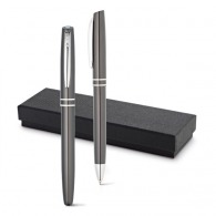 Ballpoint and rollerball pen set