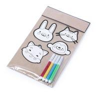 Set de 4 stickers à colorier