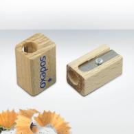 Simple taille-crayons personnalisable en bois certifié durable