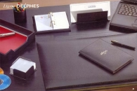 Sous main en cuir DERMIL avec rabat DELPHES - format 56 x 38
