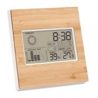 Station météo logotée finition bambou