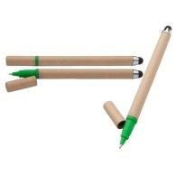 Stylet en carton recyclé et stylo à bille ecotouch