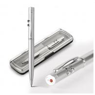 Stylo métal avec laser et lampe