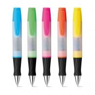 Bolígrafo con resaltador y sujetapapeles