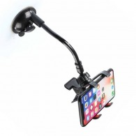 Support téléphone voiture bras flexible