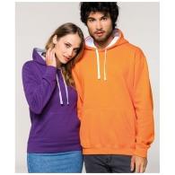 Sweat-shirt à capuche contrasté