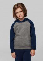 Sweat-shirt publicitaire capuche bicolore enfant - Proact