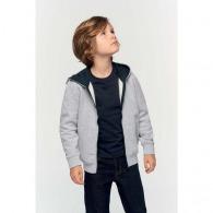 Sweat-shirt personnalisé zippé capuche enfant - Kariban