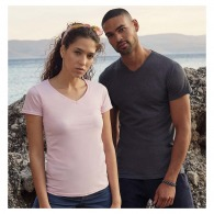 T-shirt col v personnalisé Fruit of the Loom