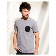 T-shirt en coton bio personnalisé avec poche
