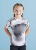 T-shirt marinière logotée enfant