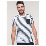 T-shirt personnalisable rayé marin avec poche