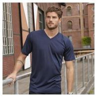 T-shirt respirant col v