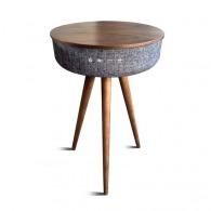 Table en bois avec enceinte Bluetooth Blaupunkt