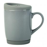 Taza de cerámica, silicona y tapa