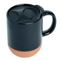 Taza de cerámica con tapa