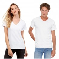 T-shirts col V avec logo