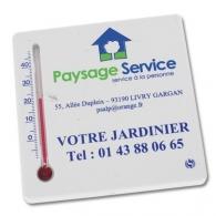 Thermomètre publicitaire carré en matériau recyclé