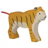 Tigre publicitaire debout en bois