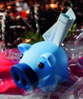 Tirelire personnalisable cochon money collector avec groin dévissable