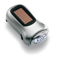 Torche personnalisable solaire et à dynamo Dynasol