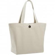 Tote bag personnalisable avec bouton en bois davos