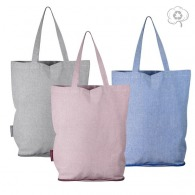 Tote bag pliable en coton recyclé