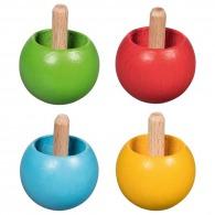 Toupie-culbute en bois de couleur