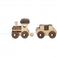 Train en bois avec éléments