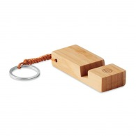 Porte-clés support smartphone bambou