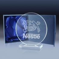 Trophées en verre customisé