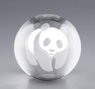 Sphère en verre fond plat