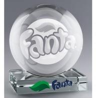 Sphère en verre avec socle