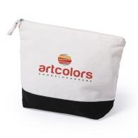 Trousse personnalisable en coton 23x18cm à fond coloré