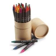 Tube cartonné de 30 crayons gras