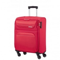 Valise logotée cabine american tourister 55/20 tissu