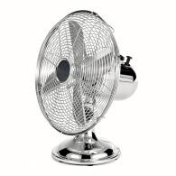 Ventilateur publicitaire de table Chromé 30cm Domo Clip