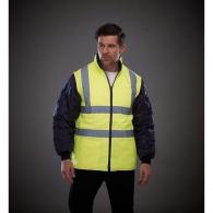 veste matelassée haute visibilité avec manches détachables - yoko