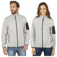 Veste polaire personnalisée tricotée à fermetures contrastées