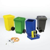 Wheelie Bin - taille-crayons publicitaire recyclé