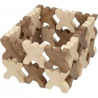 Xmanis bonshommes en bois à empiler