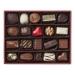 Boîte cuir rouge garnie 20 chocolats assortis cadeau d'entreprise