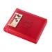 Boîte cuir rouge garnie 20 chocolats assortis, Coffret, boîte ou ballotin de chocolats publicitaire