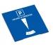 Disque de stationnement européen zone bleue cadeau d'entreprise