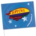 Drapeau en papier 11.5 x 24 cm, drapeau en papier publicitaire